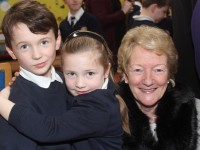 At Grandparents Day in Caherleaheen National School were, from left: Will Leahy, Zara Krno and Helena Leahy. Photo by Gavin O'Connor.