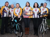 At the launch of The Chain Gang's 'Saddle up for Summer Cycling' were from left: Tomas Crowley, Aidan Hobbert, John Murray, Kathie Fisher, Meena Cahill and David Elton. Photo by Gavin O'Connor.