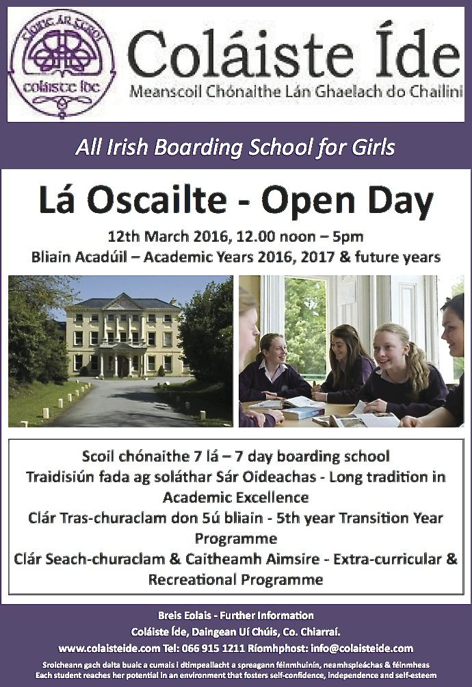 Colaiste Ide Open Day
