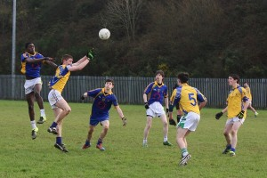Action from the Frewen Cup match between CBS The Green and De La Salle Macroom. Photo by Adrienne McLoughlin.