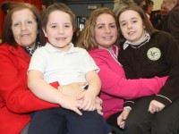 At the grandparents day in Gaelscoil Mhic Easmainn were from left: Katie Buckley, Nathan Horan, Samatha Buckley and Tanisha Buckley. Photo by Gavin O'Connor.