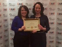 Accommodation Manager, Kathleen Dollard  and Accommodation Supervisor, Anna Kaczmarcyk, accepting The Gold Medal Award, at Hotel Westport, Mayo