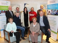 At the Kerry Enterprise Month Awards were the finalists, in front from left: Eileen and Thomas Ashe (Annascaul), Mary and Fionan Murphy, Gerry Maloney (Enterprise Ireland), Sean Rush (Sean Rush Dental), Jessica Clinton and Michael Lenihan (Ballyhar Foods) and Tomas Hayes (Kerry Local Enterprise Office). Photo by Gavin O'Connor.