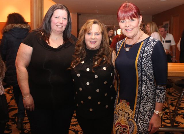 Michelle Carroll, Siobhan Murphy and Marian Carroll at the fashion show in aid of Killahan National School at the Ballyroe Heights Hotel on Friday night. Photo by Dermot Crean