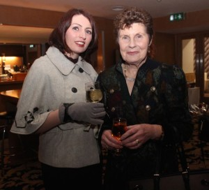 Carmel Spring and Ena O'Connell at the fashion show in aid of Killahan National School at the Ballyroe Heights Hotel on Friday night. Photo by Dermot Crean