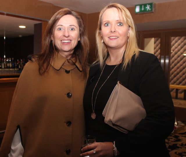 Marie Janot and Breda Carmody at the fashion show in aid of Killahan National School at the Ballyroe Heights Hotel on Friday night. Photo by Dermot Crean