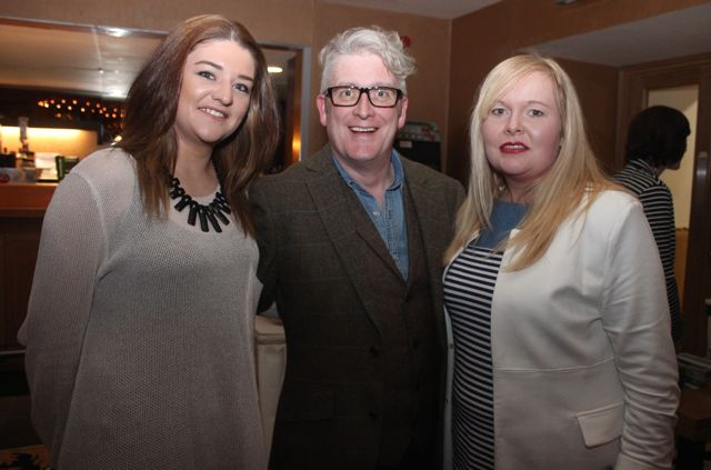 Laura McGaley, Danny Leane and Bridget Roche at the fashion show in aid of Killahan National School at the Ballyroe Heights Hotel on Friday night. Photo by Dermot Crean