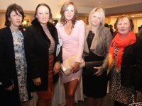Mary McKenna, Stephanie McKenna, Niamh McKenna, Laura O'Callaghan and Margaret McKenna at the fashion show in aid of Killahan National School at the Ballyroe Heights Hotel on Friday night. Photo by Dermot Crean