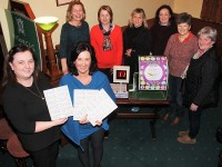 Launching the Na Gaeil Bingo for Seachtain na Gaeilge were, from left: Niamh Burke, Helen O'Brien, Mary Ellen O'Connor, Linda O'Brien, Sorcha Ui Shuilleabhain, Maeve Moran, Jossie Dalton and Cait Ui Luannaigh. Photo by Gavin O'Connor.