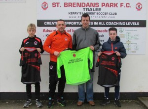 Park Fc U15 presented with new Jerseys from Fegus Foley on Saturday 06th February