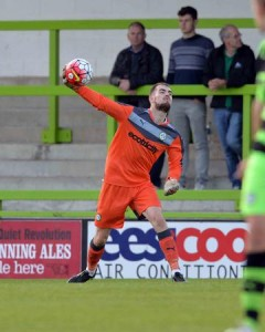 Paul White in action for Forest Green. Photo by Gavin O'Connor.