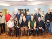 At the one year anniversary of the Saoirse Cancer Support Group were, from left, front: Teddy Drumme, Siobhain McSweeney, John Barrett, Tommy Frank O'Connor and Barney Dowling. Dieter Gogsch, Pat Doolin, John Healy, Paul Horan, Patricia Gogsch, Eckhard Gogsch, Sheila O'Connor. Steven Molloy, Caroline Bullman and Liam O'Dowd. Photo by Gavin O'Connor.