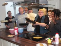 Flipping pancakes at the Shanakill Family Resource Centre were,