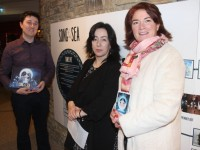 Rory Conway with Catriona Fallon of Siamsa Tíre and Grace O'Donnell at the opening of the Song of the Sea exhibition on Friday evening. Photo by Dermot Crean