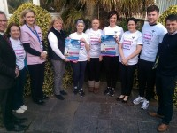 Launching the Tralee Valentines 10 Mile Run/Walk for Bon Secours employees were, from left: Dr George Phillip, Mary B Murphy, Suzanne Chute, Donna Roche, Siobhain Hartnett, Tara Wrenn, Martha O'Donoghue, Suzanne Doyl, Regi Galvin and Denis Hanafin. Photo by Gavin O'Connor.