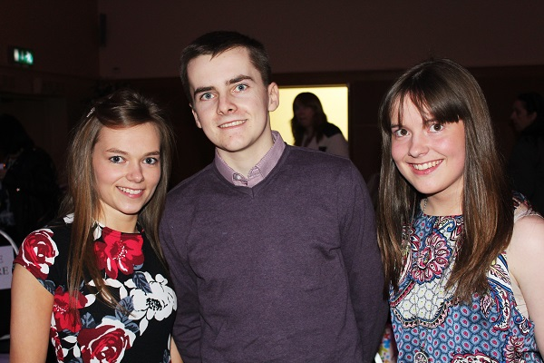 Breanne Barrett, Nicolas Hussey and Emily Barrett at Strictly Come Dancing in aid of Ardfert National School. Photo by Gavin O'Connor.