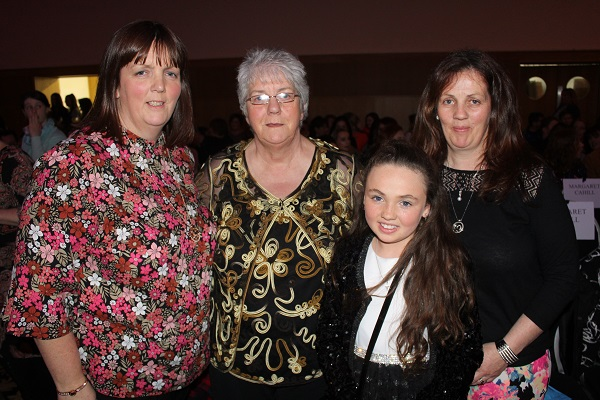 Helen and Peggy Geary, Corina and Jenny Geary O'Sullivan at Strictly Come Dancing in aid of Ardfert National School. Photo by Gavin O'Connor.