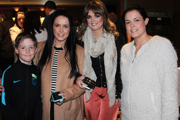 Aille Foley, Laura Ferris, Siobhain Galway and Louise O'Sullivan at Strictly Come Dancing in aid of Ardfert National School. Photo by Gavin O'Connor.