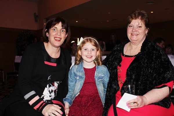 Mary, Aoife and Kitty Higgins at Strictly Come Dancing in aid of Ardfert National School. Photo by Gavin O'Connor.