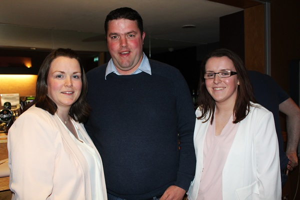 :aura McCarthy, Johnathan Best and Emily McCarthy at Strictly Come Dancing in aid of Ardfert National School. Photo by Gavin O'Connor.