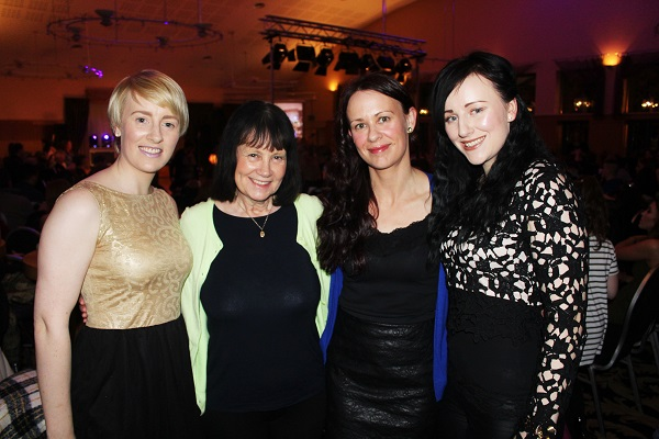 Siobhain, Anne, Mary and Eimer Devane at Strictly Come Dancing in aid of Ardfert National School. Photo by Gavin O'Connor.