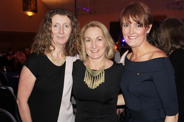 Mary Dowling, Barbara O'Grady and Angela Ryan at Strictly Come Dancing in aid of Ardfert National School. Photo by Gavin O'Connor.