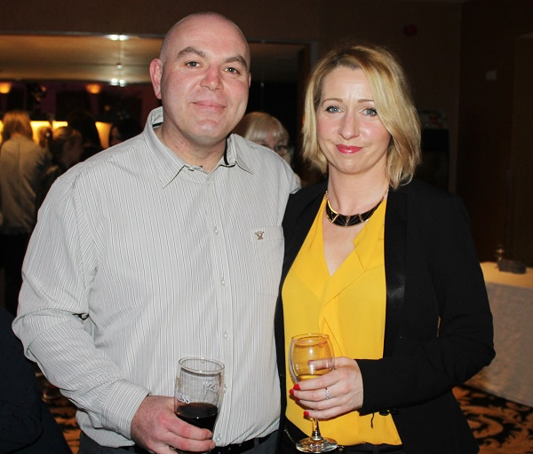 Sean O'Callaghan and Aine O'Mahony at Strictly Come Dancing in aid of Ardfert National School. Photo by Gavin O'Connor.