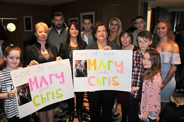 Supporters of Mary Lyne and Chris Sheehan at Strictly Come Dancing in aid of Ardfert National School. Photo by Gavin O'Connor.
