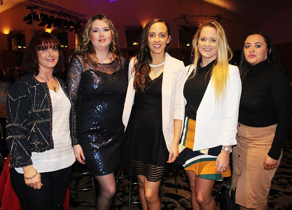 Nicola Casey, Anna Milinska, Tara O'Halloran, Fiona Colgan and Anne Walsh at Strictly Come Dancing in aid of Ardfert National School. Photo by Gavin O'Connor.