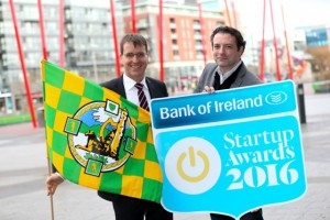Pictured are David Merriman, Head of Enterprise Development at Bank of Ireland; and Stephen Dillion, Founder of the Startup Awards.