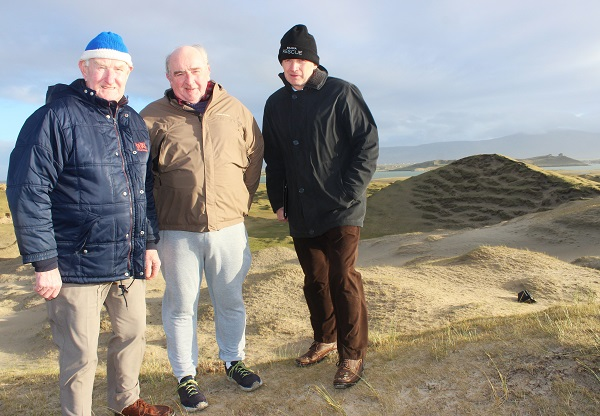Banna residents, Donal Dowlin, George Flaherty and Pat Lawlor. Photo by Gavin O'Connor.