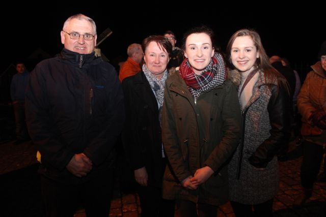 Dermot, Noreen, Anna and Claire Sugrue at Bryan Cooper's homecoming celebration in Blennerville on Thursday night. Photo by Dermot Crean