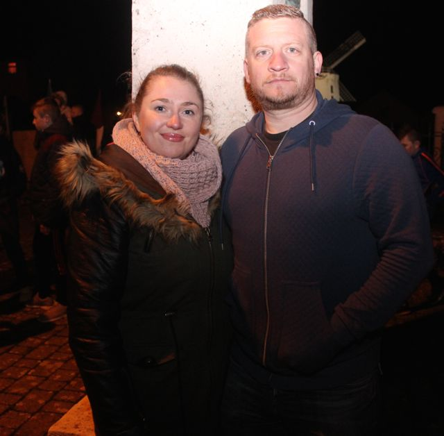 Karina Clifford and Garrett Roche at Bryan Cooper's homecoming celebration in Blennerville on Thursday night. Photo by Dermot Crean