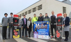 At the launch of the CBS The Green 'The Kube' Charity Fundraiser were, from left: Fahed Elahi, Ryan O'Donnell, Emir Aljiti, Robert Flaherty, Teresa Walker, Aidan O'Mahony, Marc O'Se, Kieran Donaghy and Anne O'Callaghan. Photo by Gavin O'Connor.