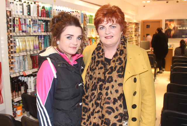 Oriana and Patricia Healy at the Fortunate Benavoli Make-Up Masterclass at CH on Friday evening. Photo by Dermot Crean