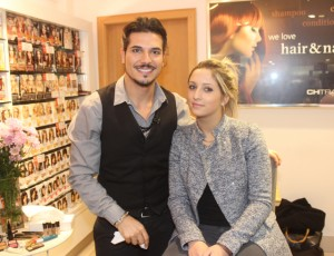 Fortunate Benavoli with Veronica Hrachovinova at the Make-Up Masterclass at CH on Friday evening. Photo by Dermot Crean