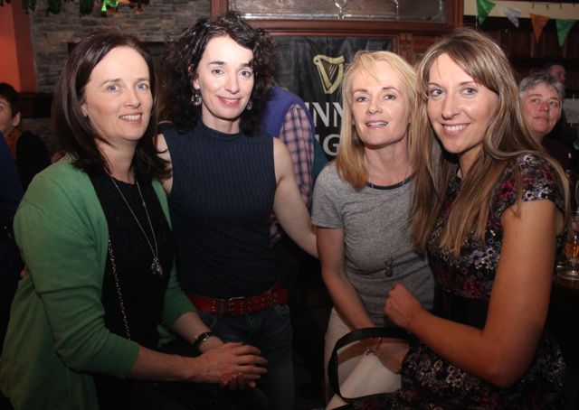 Maura Lynch, Sarah Barry, Niamh Cullinane and Dara Barrett at The Castle Bar on Wednesday. Photo by Dermot Crean