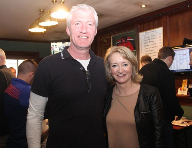Conor and Roisin Kearney at The Castle Bar on Wednesday. Photo by Dermot Crean