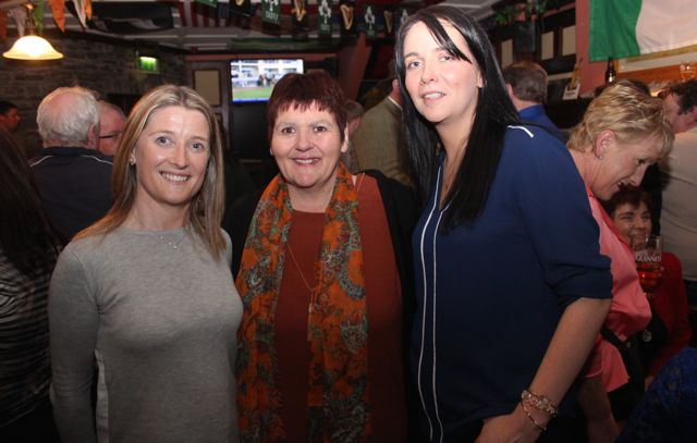 Catherine Tobin, Alice O'Sullivan and Karen Lynch at The Castle Bar on Wednesday. Photo by Dermot Crean