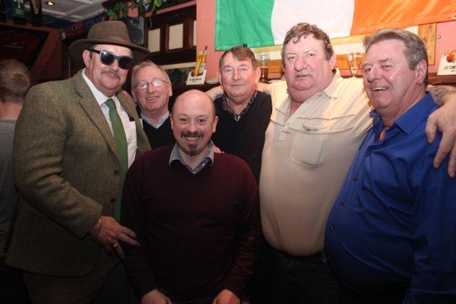 Vincent Sheehy, Denis O'Sullivan, Aidan Teahon, Eddie O'Shea, Michael 'Sling' O'Brien and Ronnie McElligottat The Castle Bar on Wednesday. Photo by Dermot Crean