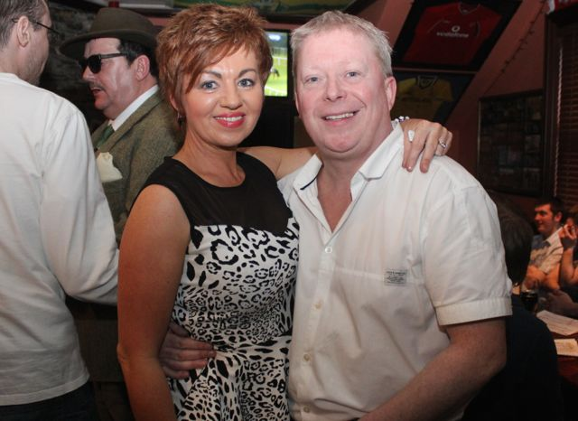 Jennifer and Brian Mackey at The Castle Bar on Wednesday. Photo by Dermot Crean