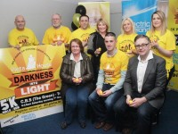 At the launch of Darkness Into Light in Pieta House on Tuesday night were, front from left: Elma Walsh, Colin Aherne and Eddie Murphy. Back: Danny O'Shea, Martin Brosnan, Aidan O'Sullivan, Nora Conway, Marilyn O'Shea and Stephanie Turner.