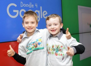 Jack Lynch (left) and Kyran Boyle (right) were two of the 75 regional finalists nominated in this year's Doodle 4 Google 2016 competition.