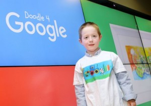 Seanie Feehan from Scoil Naomh Eirc, Kilmoyley was one of the 75 regional finalists nominated in this year's Doodle 4 Google 2016 competition.