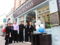 On the opening day of Gaudinos on Castle Street were, from left: Teresa Roche, Suzanne McCluskey, Rosario Gaudino, Gilbert Ecker, Cathrine Gaudino and Leonie Hanifin. Photo by Gavin O'Connot