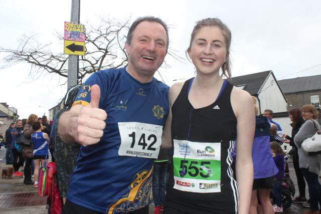 Dave and Sarah Rath at the start of the Half Marathon on Saturday morning. Photo by Dermot Crean
