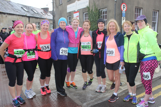 Ladies at the start of the Half Marathon on Saturday morning. Photo by Dermot Crean