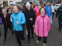 Looking enthusiastic at the start of the Kerry Hospice Good Friday Walk at the Grand Hotel. Photo by Dermot Crean