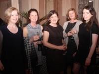 Gráinne McPolin, Margo Burns, Anne Mooney, Deirdre Walsh and Alanna Diggin at the Kerry Businesswomen's Network event in Ballygarry House Hotel on Wednesday night. Photo by Dermot Crean
