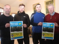 Launching the Kerins O'Rahillys Masters Challenge was Ken Savage, Shane O'Sullivan, Con Barrett and Sean Walsh. Photo by Dermot Crean